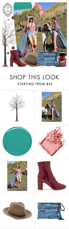 """""""Tulle and Batiste"""" by gaby-mil ❤ liked on Polyvore featuring Martha Stewart, Burberry, Bobbi Brown Cosmetics, Polly Plume, rag & bone, Ancient Greek Sandals, Graftobian and vintage"""