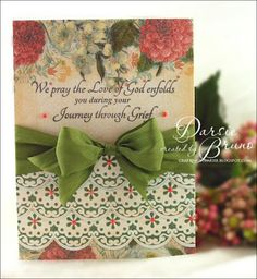 Sympathy Card designed by Darise Bruno using Classic Scallop Borders One and With Sympathy.