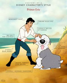 Anatomy of a Disney Character's Style: Prince Eric <3