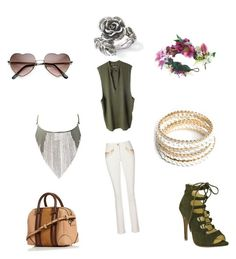 """Shopping"" by torilindseyrosella on Polyvore featuring adidas Originals, Rock 'N Rose, Yves Saint Laurent, Natures Jewelry and ZooShoo"