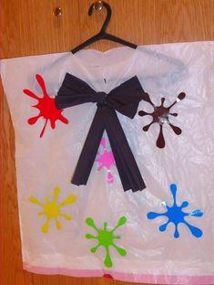 carnavales,disfraz,pintor,bolsa basura,sencillo,niños