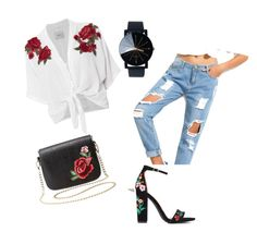 """""""Rose gol"""" by admira-mulavdic ❤ liked on Polyvore featuring Rails, Charlotte Russe and Flowers"""