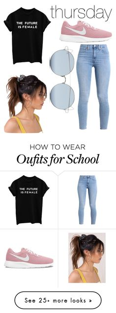 """back to school week - thursday"" by abald on Polyvore featuring Levi's, NIKE and For Art's Sake"