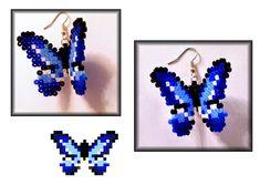 Hama Butterfly Earrings by Metru-guy.deviantart.com on @deviantART
