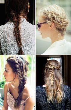 Side braid love! Collage vintage