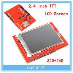 LCD 모듈 TFT 2.4 인치 TFT LCD 화면 아두 이노 UNO R3 보드 지원 메가 2560