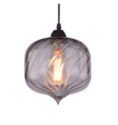 Lampe style loft design verre fumé - Flow
