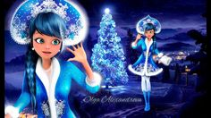 Miraculous Ladybug Christmas Marinette TRANSFORMS INTO Snow Maiden