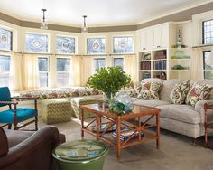 Creative Tonic loves for a window seat + Queen Anne windows