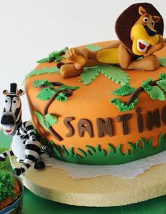 Madagascar Birthday Party cake!  See more party planning ideas at CatchMyParty.com!