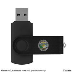 Alaska seal, American state seal Swivel USB 2.0 Flash Drive