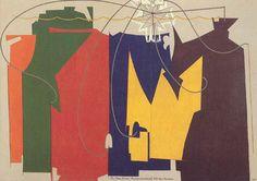 """Man Ray, The Rope Dancer Accompanies Herself with Her Shadows (La funambulista s'acompanya amb les seves sombres), 1916, es troba avui en dia expostat al Museu d'Art Modern de Nova York. En les seves paraules a la seva autobiografia: """"La satisfacció i la confiança que em va brindar aquest treball van ser majors que tot el que havia experimentat fins aquell moment"""""""