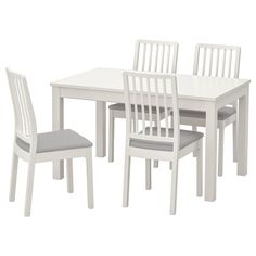 IKEA offers comfortable and durable dining room sets in a variety of styles, finishes, and seating arrangements that can match any dining room. Table Ikea, Table And Chairs, Dining Table, Dining Sets, Dining Room, Ikea Design, Chaise Ikea, Table Extensible, Ikea Family