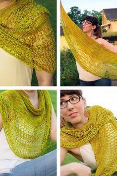 Ravelry: Rosewater shawl with Madelinetosh Tosh Merino Light - knitting pattern by Janina Kallio.