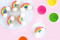 Make the Cutest Rainbow Donuts for St. Patrick's Day via Brit   Co