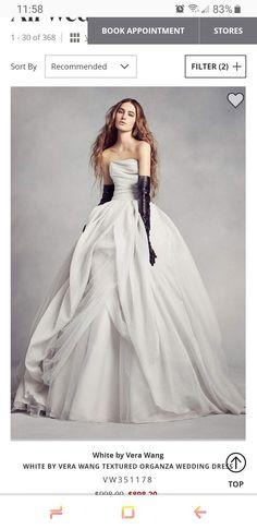 84e7735556842 Gown Wedding, Wedding Dress Organza, Princess Wedding Dresses, Bridal Party  Dresses, White