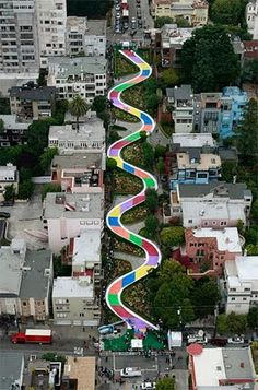 sooo cute! Lombard Street makeover for Candyland's 60th Birthday