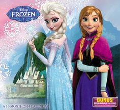 Disney FROZEN Wall Calendar 2014. For order or details click on the image!