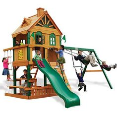 Gorilla Playsets Riverview Cedar Wooden Swing Set