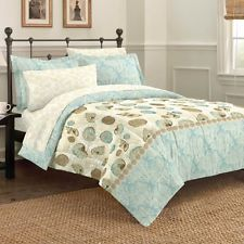 Discoveries Casual Sea Breeze Comforter Set Queen Blue 2A850103BL | eBay