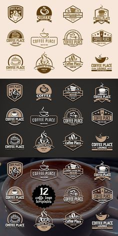 Coffee Icon Icons from GraphicRiver - Coffee Icon - Ideas of Coffee Icon - 12 coffee logo templates Coffee Icon Ideas of Coffee Icon 12 coffee logo templates Pepsi Vintage, Vans Vintage, Logos Vintage, Chanel Vintage, Coffee Shop Branding, Coffee Shop Logo, Coffee Shop Design, Coffee Shop Names, Logo Café