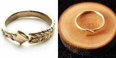Arrow wedding rings