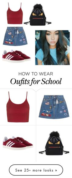 """School 1"" by stellamai on Polyvore featuring Topshop, Marc Jacobs, adidas and Fendi"