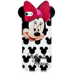 SaveGood Cute Minnie Mouse Thick face Silicone Hard Gel TPU Back Case... ($4.53) ❤ liked on Polyvore featuring accessories, tech accessories, phone cases, phones, cases, iphone, iphone cases, apple iphone cases, iphone 6 case and prepaid smartphones