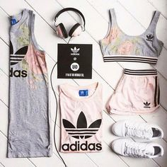 ♡ Women's Adidas Workout Clothes Fitness Apparel Must have Workout Clothing Yoga Tops Sports Bra Yoga Pants Motivation is here! Fitness Apparel Express Workout Clothes for Women Komplette Outfits, Sport Outfits, Fall Outfits, Summer Outfits, Casual Outfits, Fashion Outfits, Fashion Tips, Fashion Shoot, Fashion Trends