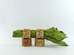Wood Napkin Rings  Creative Pyrography  Christmas by bkinspired