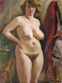 Oleg Lomakin (Russia, 1924 - 2010) The Nude model.
