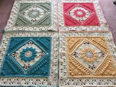 Charlotte's Dream crochet blanket, two colors only (+ white) instead of three.