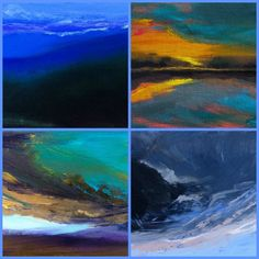 This collage is of 4 6x8 Minatures from my Skyscapes series. Please visit my website to see these and others from this collection