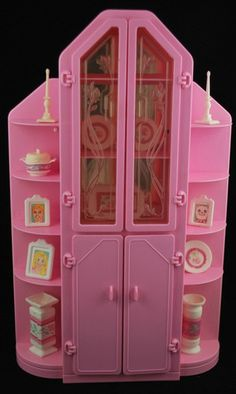 Vintage 1987 Barbie Sweet Roses 3 Piece Wall Unit