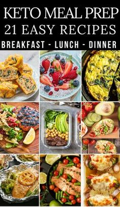 21 keto diet recipes perfect for meal prep & meal planning! These ketogenic recipes for breakfast, lunch, and dinner make losing weight taste delicious! Awesome tips for beginners! If you're looking for low carb recipes to meal prep for the week like keto Ketogenic Diet Meal Plan, Ketogenic Diet For Beginners, Keto Meal Plan, Diet Meal Plans, Ketogenic Recipes, Diet Recipes, Healthy Recipes, Meal Prep Beginners, Healthy Meals