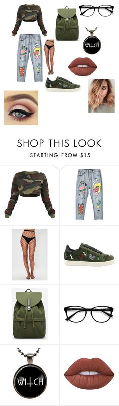 """school3"" by adinutza12 ❤ liked on Polyvore featuring beauty, Missguided, MOA Master of Arts, Everlane, EyeBuyDirect.com and Lime Crime"