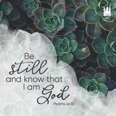 """Be still, and know that I am God."" - Psalms 46:10"