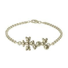 Acetylcholine Charm Bracelet. The molecule that is essential for learning, dreaming and making memories. Perfect for a lifelong-learner or a graduate!           #moleculejewelry #learning #dreaming #memory #silver #jewelry #graduation
