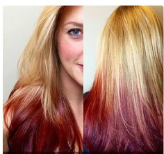 Reverse red ombre