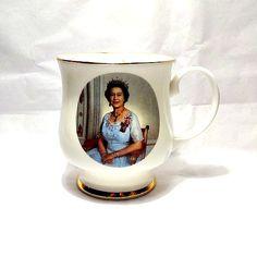 Fine Bone China Royal Crown Duchy Floral Mug Fancy Colours Pottery