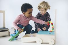 The GLÜCKSSTUHL Wooden Kids Chair is entirely handmade from durable birch wood. It's made in a little workshop in Madrid, and is painted with pictures that encourage respect for the environment. 4 Kids, Children, Wooden Wheel, Baby Chair, Looking For People, Soft Dolls, Chair Design, Cool Furniture, Toy Chest