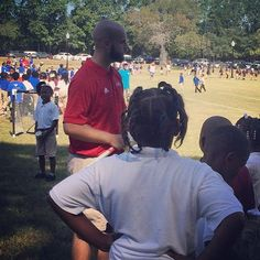 #Teaching a little #lacrosse to students during Field Day held on the Quad at #uwa.  Almost 400 students participated in this event!  Look for more great activities by #museum while #hometownteams is opening.  Come check it out starting September 16th!