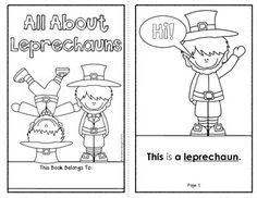 """All About Leprechauns"" ... An easy-reader, perfect for Pre-K and kindergarten students, and 1st grade students who need a little extra support. The download includes traceable sight words, underlined vocabulary, and large images to color... 8 student pages in all. $1.50 #stpatricksday #leprechauns"