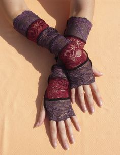 Lace Armwarmers in Gothic and Gypsy Style Fusion by littlegallery, $24.00