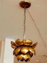 - Brass Lotus Chandelier