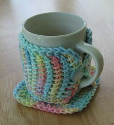 Keep your mugs snug and cozy with these two quick and easy to make crochet projects--a square mug rug to catch spills and a wrap to keep yo...
