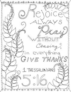 Give Thanks To The Lord For He Is Good Coloring Sheet