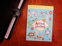 Animal Stickers Owl Cat Doggy Flowers  Filofax / by MrsBrimbles, £2.99