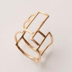 Grid Ring No.1 - 14K Gold Ring, unisex ring, wedding ring, wedding band, hammered ring, AA