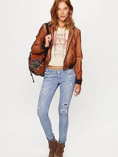 FREE PEOPLE M2F Destroyed Skinny Jean, Size 28